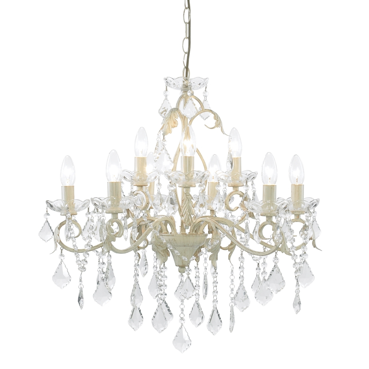 Chandeliers Design : Magnificent Cream And Gold Crystal Chandelier With Regard To Well Known Large Cream Chandelier (View 9 of 20)