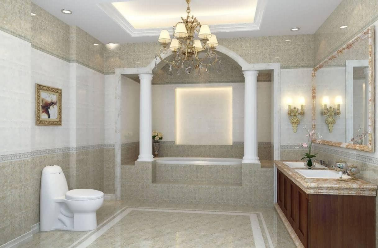 Chandeliers Design : Magnificent Hanging Chandelier Modern Bathroom In Most Up To Date Modern Bathroom Chandelier Lighting (View 10 of 20)