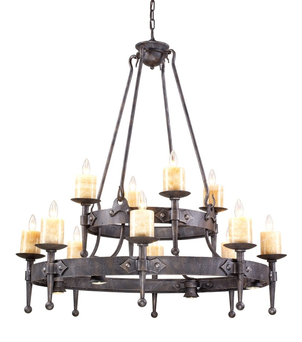 Chandeliers Design : Magnificent Rustic Round Iron Chandelier With Intended For Famous Iron Chandelier (View 3 of 20)
