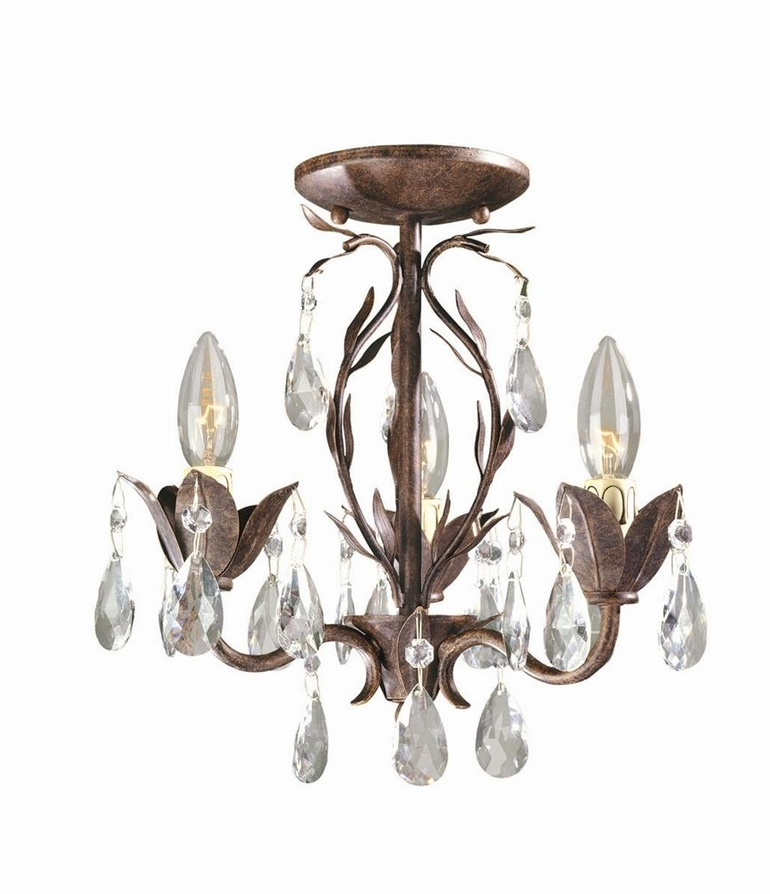Chandeliers Design : Marvelous Semi Flush Chandelier Capital Regarding Latest Flush Fitting Chandeliers (View 3 of 20)