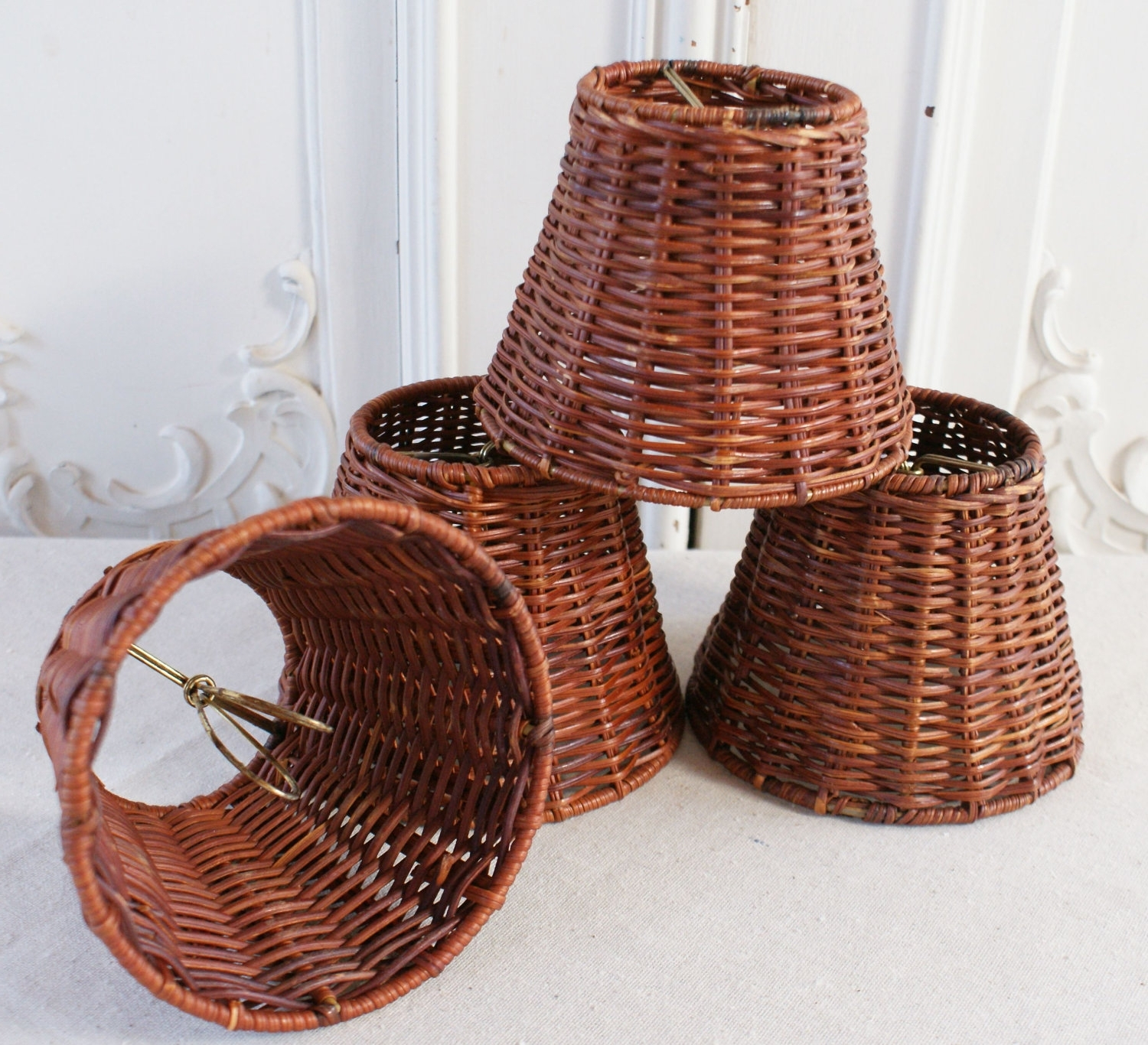 Chandeliers Design : Marvelous Wicker Chandelier With Lamp Shades Throughout Fashionable Chandelier Lamp Shades Clip On (View 9 of 20)