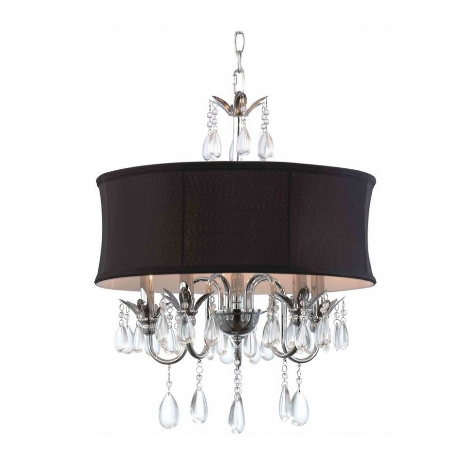 Chandeliers Design : Marvelous Zoom Drum Pendant Chandelier Black Within Well Liked Chandeliers With Black Shades (View 5 of 20)