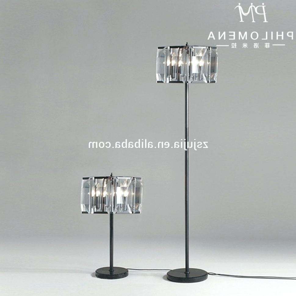 Chandeliers Design : Wonderful Chandelier Standing Lamp Crystal Inside Newest Chandelier Standing Lamps (View 5 of 20)