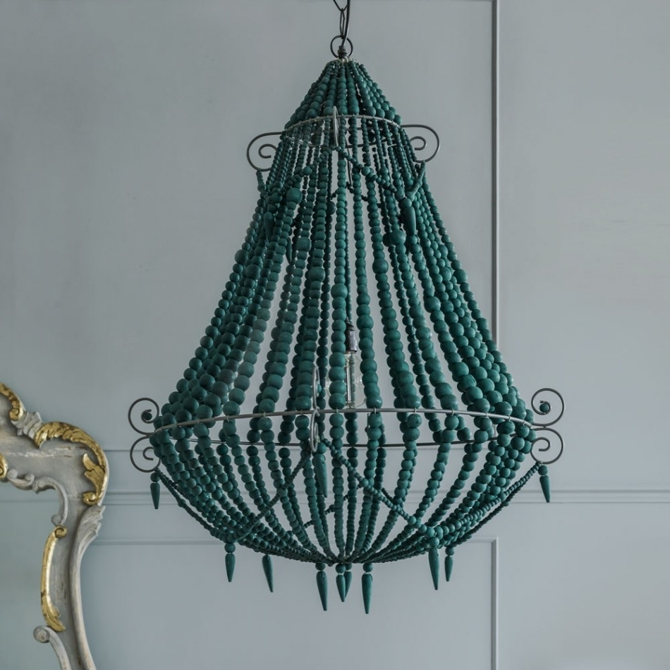 Chandeliers Design : Wonderful Diy Turquoise Chandelier French Blue Intended For Most Up To Date Diy Turquoise Beaded Chandeliers (View 7 of 20)
