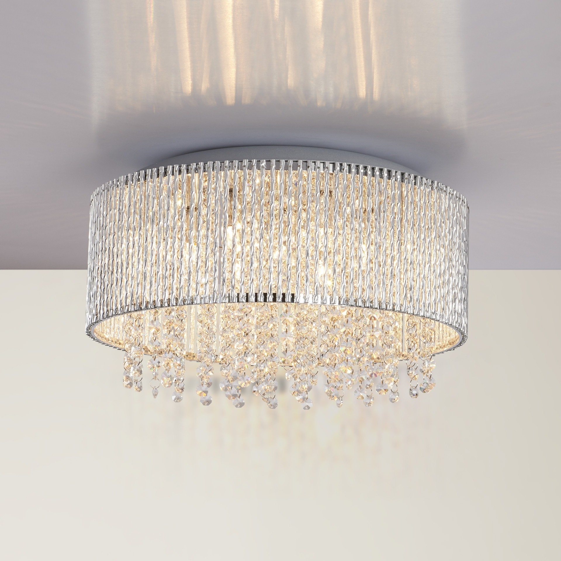 Chandeliers Design : Wonderful Trend Flush Chandelier For Small Home With 2019 Flush Chandelier (View 5 of 20)