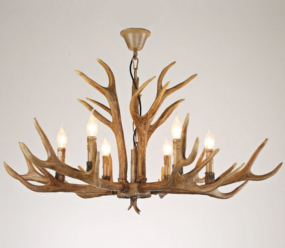 Chandeliers : Faux Antlerelier Small With Ceiling Fan Pottery Barn With Regard To Most Recent Antler Chandeliers And Lighting (View 16 of 20)