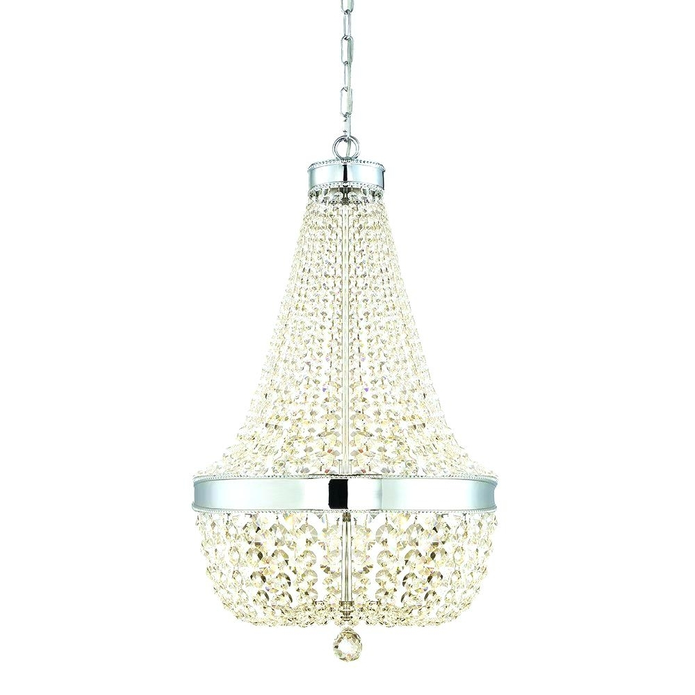 Chandeliers: Faux Crystal Chandelier (View 6 of 20)