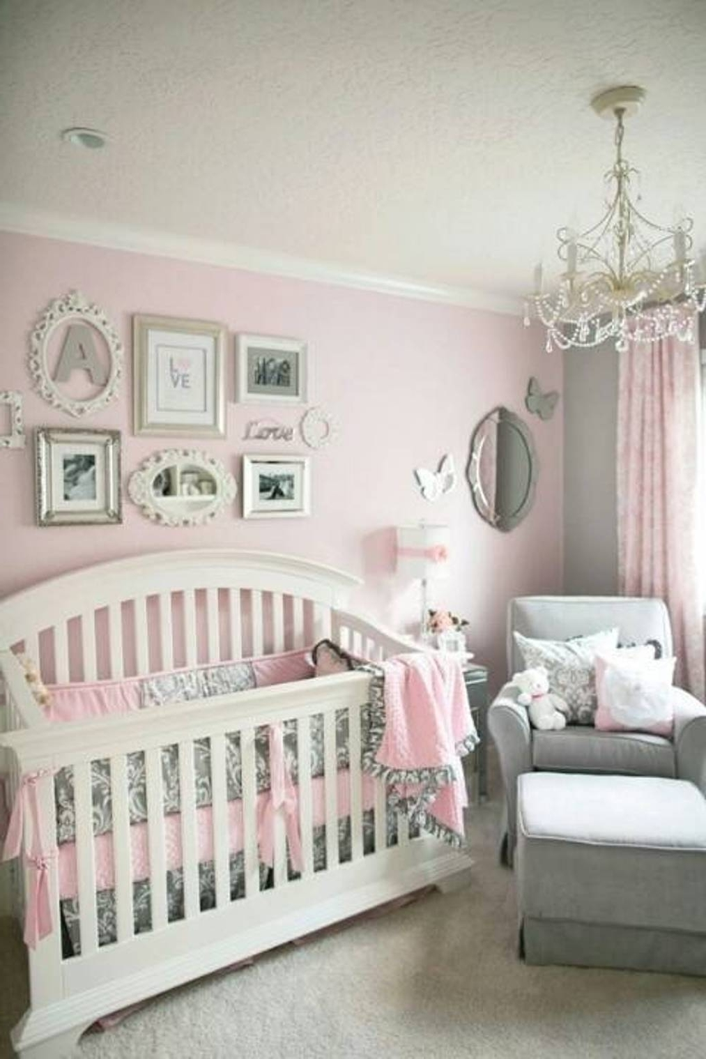 Chandeliers For Baby Girl Room Intended For Newest Marvelous Crystal Chandelier Illuminating The Baby Nursery Which Is (View 5 of 20)