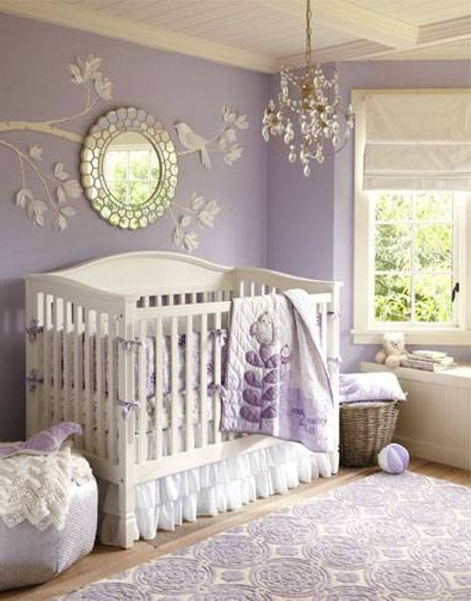 Chandeliers For Baby Girl Room With Regard To Most Current Comely Design Ideas Using Round Silver Wall Mirrors And Rectangular (View 3 of 20)