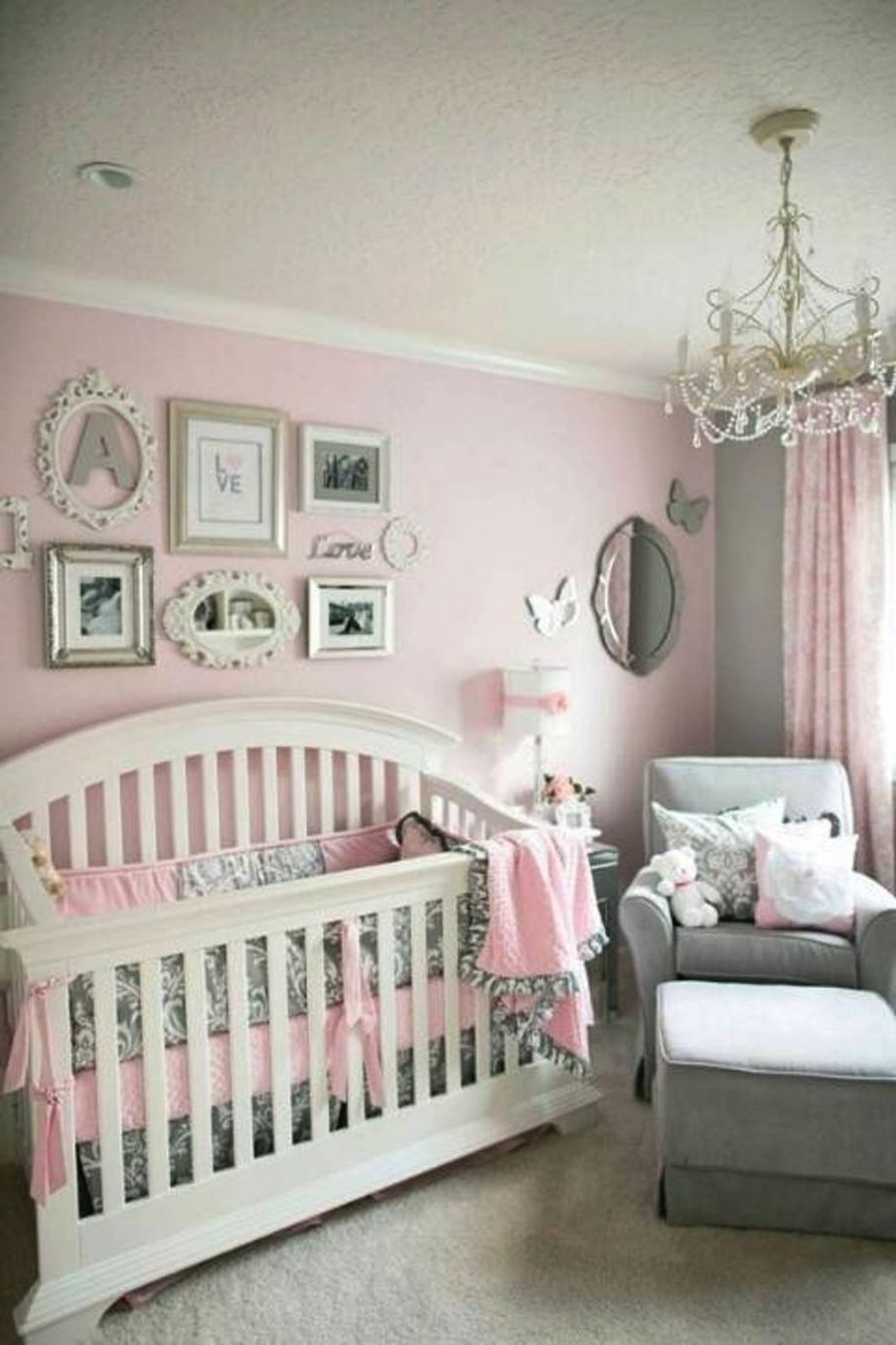 Chandeliers For Girl Nursery Intended For Best And Newest Chandeliers For Baby Girl Nursery (View 7 of 20)