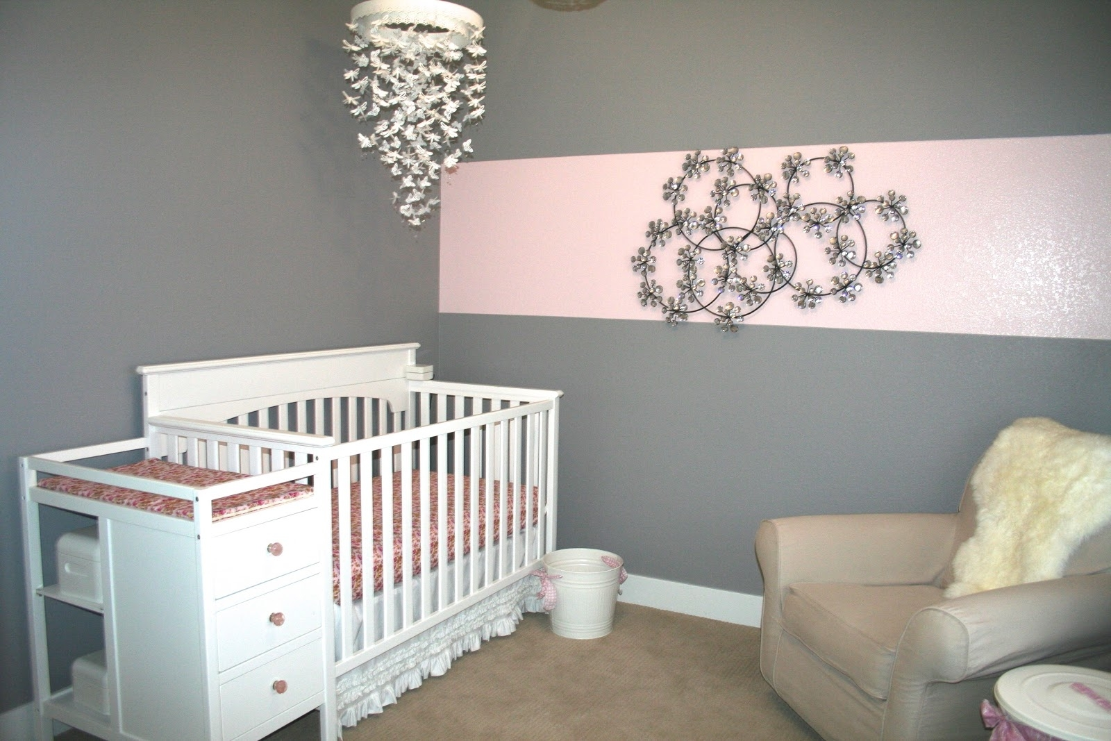 Chandeliers For Girl Nursery Regarding Most Up To Date Baby Nursery Decor: Pictures Chandeliers For Baby Girl Nursery (View 8 of 20)