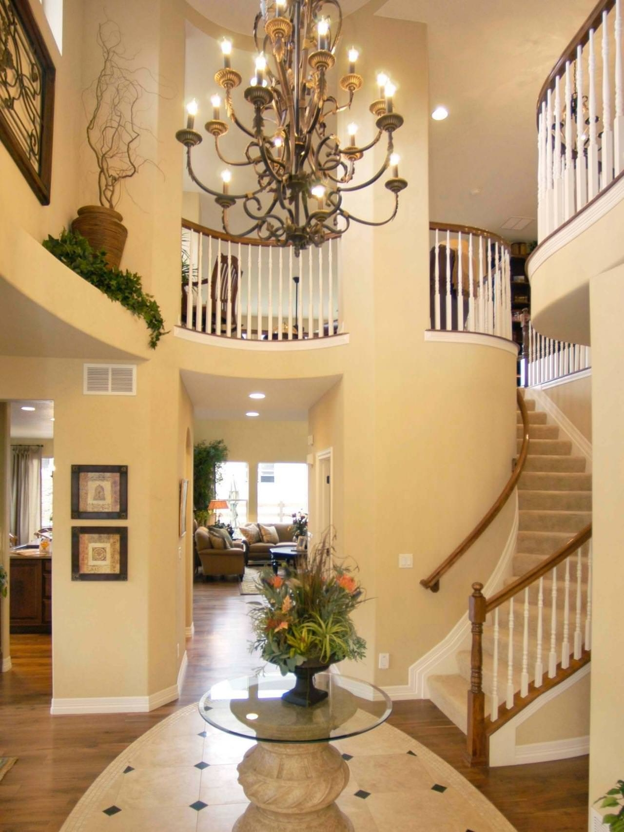 Chandeliers For Hallways In Recent Entryway Chandeliers For High Ceiling — Rustzine Home Decor : Best (View 4 of 20)