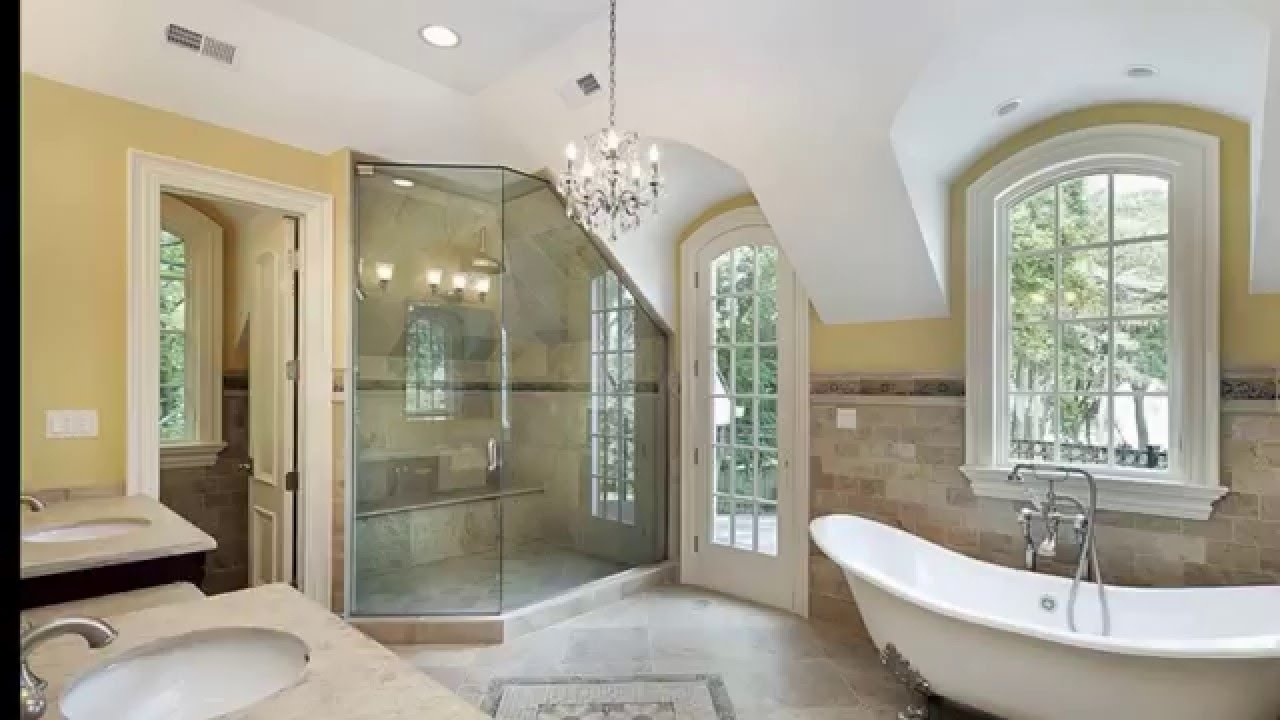 Chandeliers For The Bathroom For Popular 27 Beautiful Bathroom Chandeliers In Luxury Master Suites – Youtube (View 7 of 20)