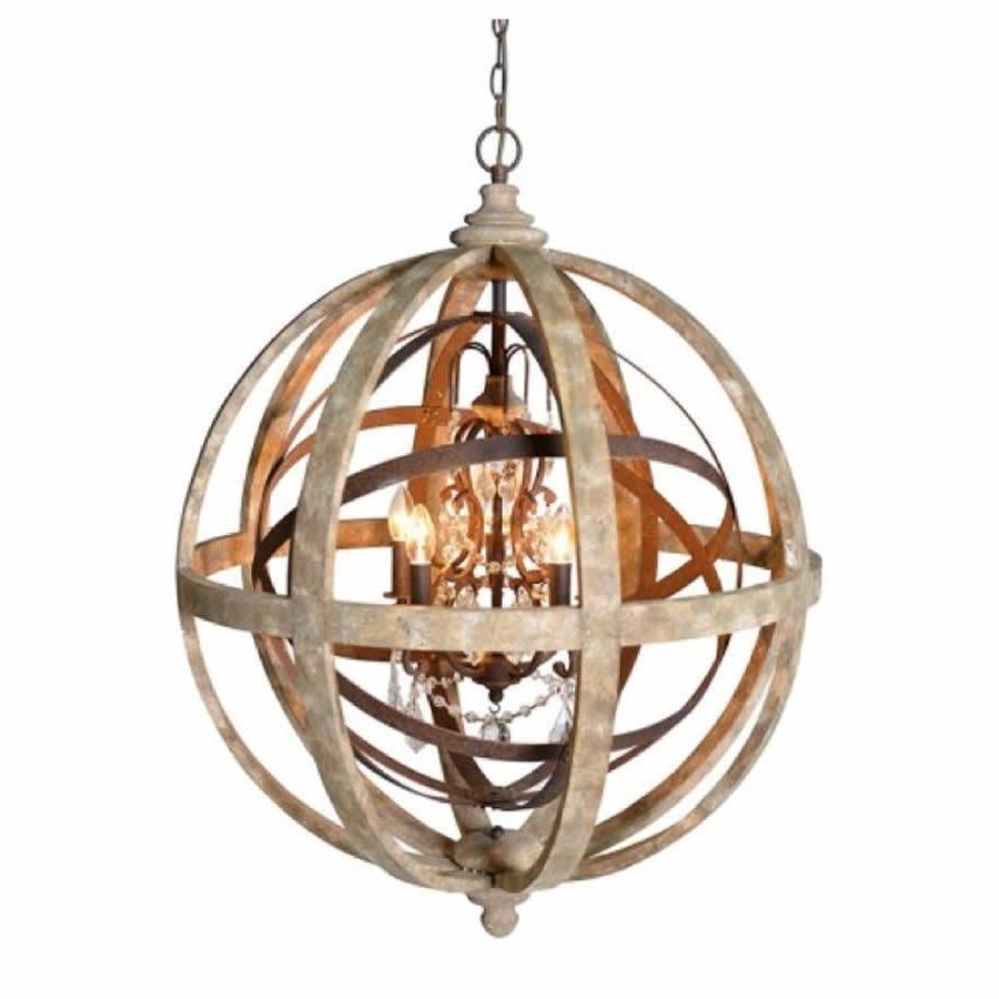 Chandeliers Glamorous Sphere Chandelier: Wooden Orb Chandelier Metal Inside Fashionable Orb Chandeliers (View 17 of 20)