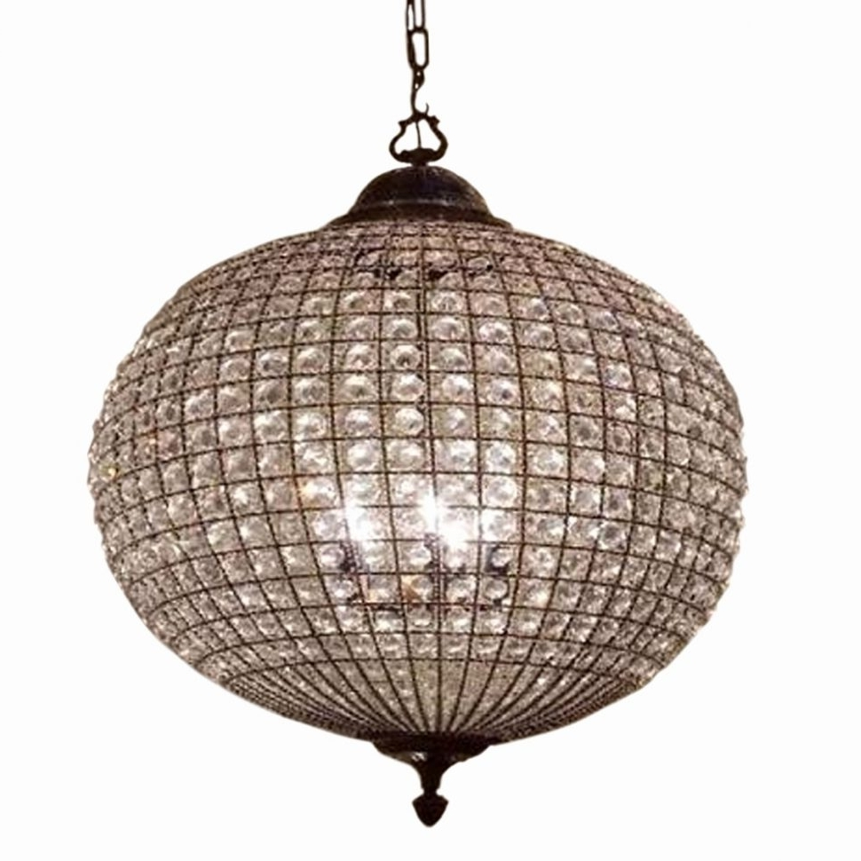 Chandeliers : Globe Crystal Chandelier Bronze Examples Collection Throughout Recent Globe Crystal Chandelier (View 17 of 20)