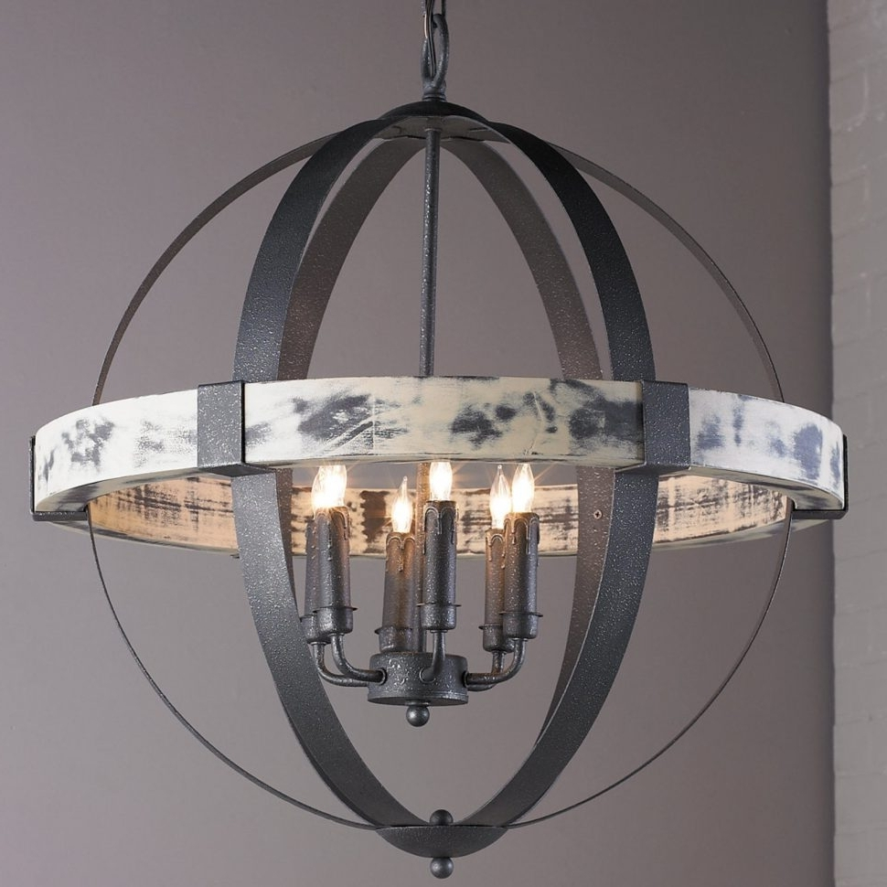 Chandeliers : Iron Chandelier Awesome Aspen Wrought Iron Globe Intended For Best And Newest Large Iron Chandeliers (View 4 of 20)