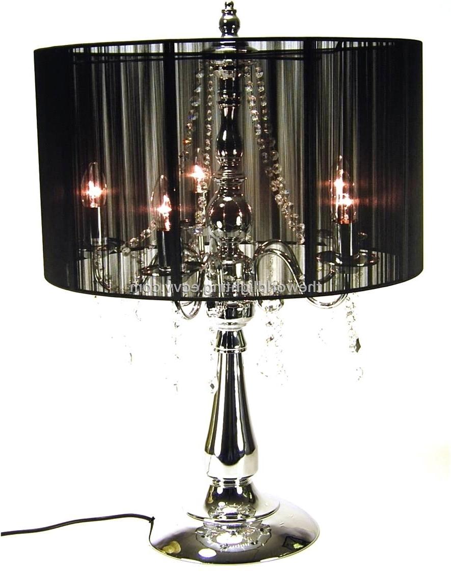 Chandeliers ~ Standing Chandelier Floor Lamp Beds, Frames Bases With Regard To Most Recent Black Chandelier Standing Lamps (View 2 of 20)