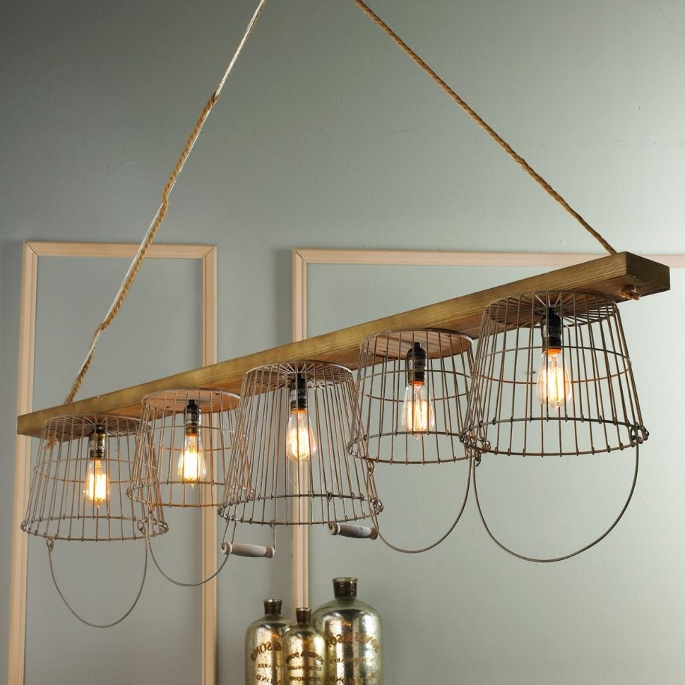 Chandeliers : Unique Clip On Chandelier Shades Rustic Wire Basket Regarding Well Known Clip On Chandeliers (View 17 of 20)