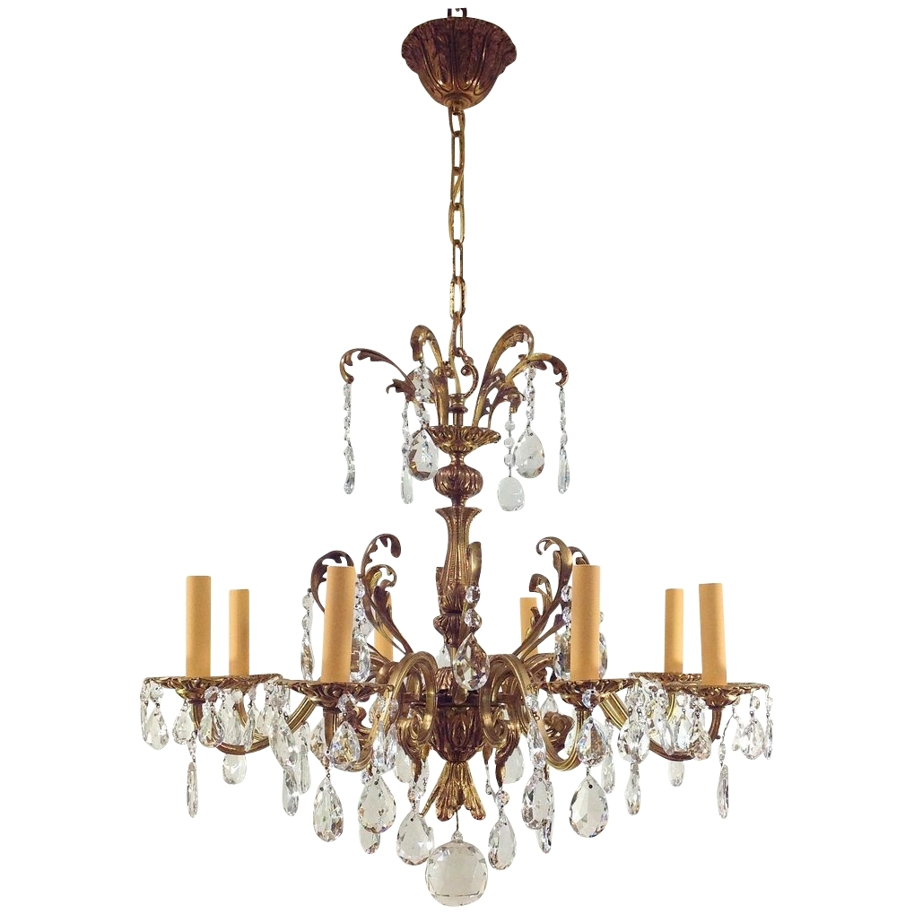 Chandeliers Vintage For Most Recent Victorian Antique Crystal Chandeliers Pictures To Pin On Pinterest (View 1 of 20)