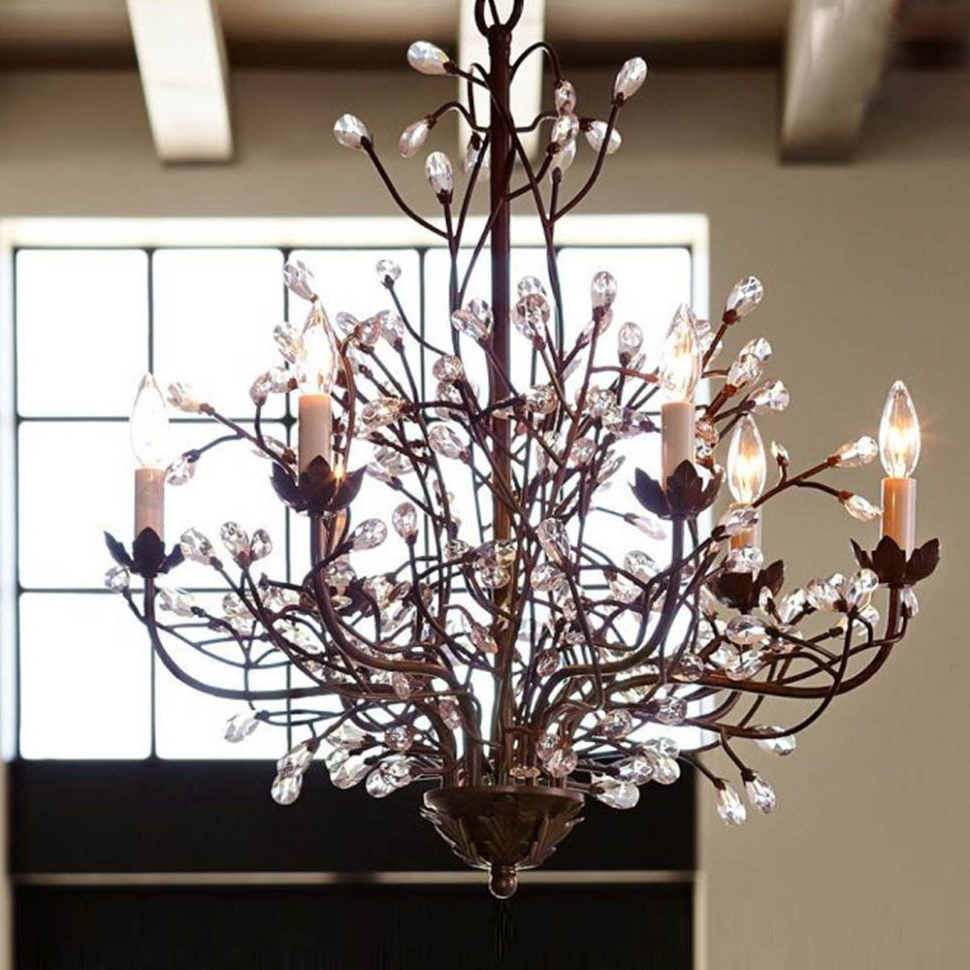 Chandeliers Vintage In Most Recent Chandeliers Design : Wonderful Floral Antique Crystal Chandelier (View 4 of 20)