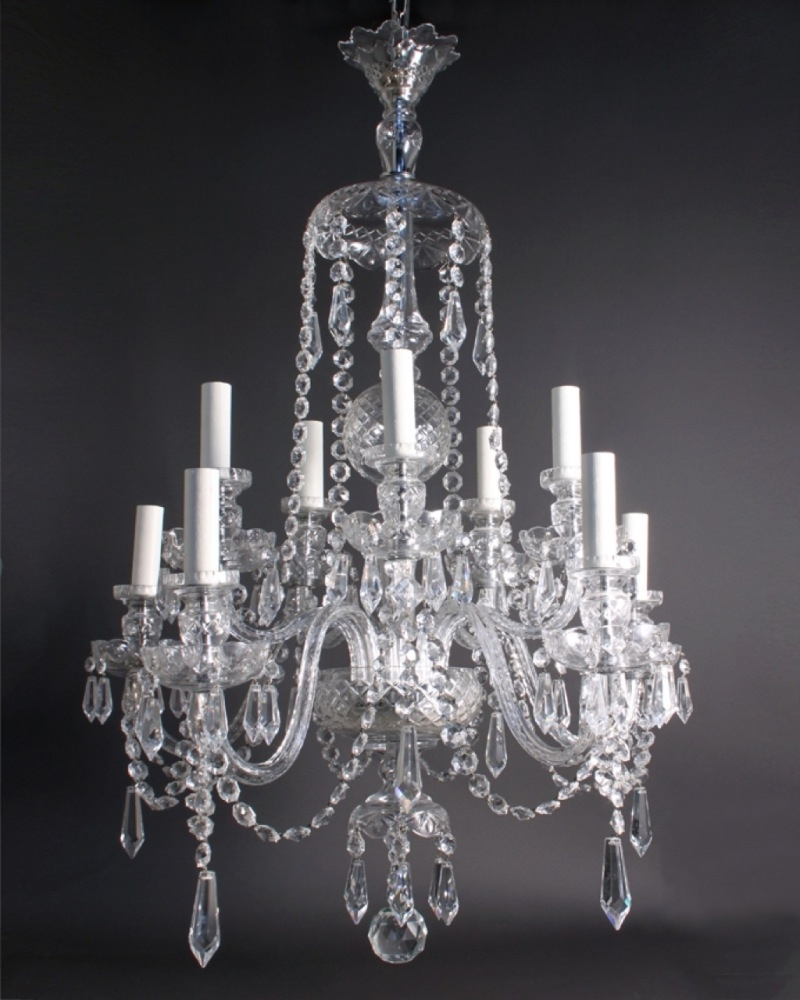 Chandeliers Vintage With Regard To Newest White Vintage Crystal Chandelier : Vintage Crystal Chandelier For A (View 13 of 20)