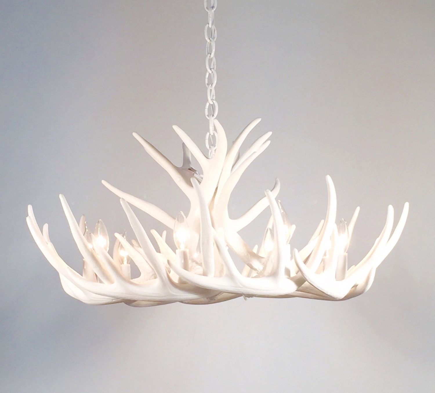 Chandeliers : White Antlerhandelier Modernhandeliers Design Within Widely Used Modern Antler Chandelier (View 2 of 20)