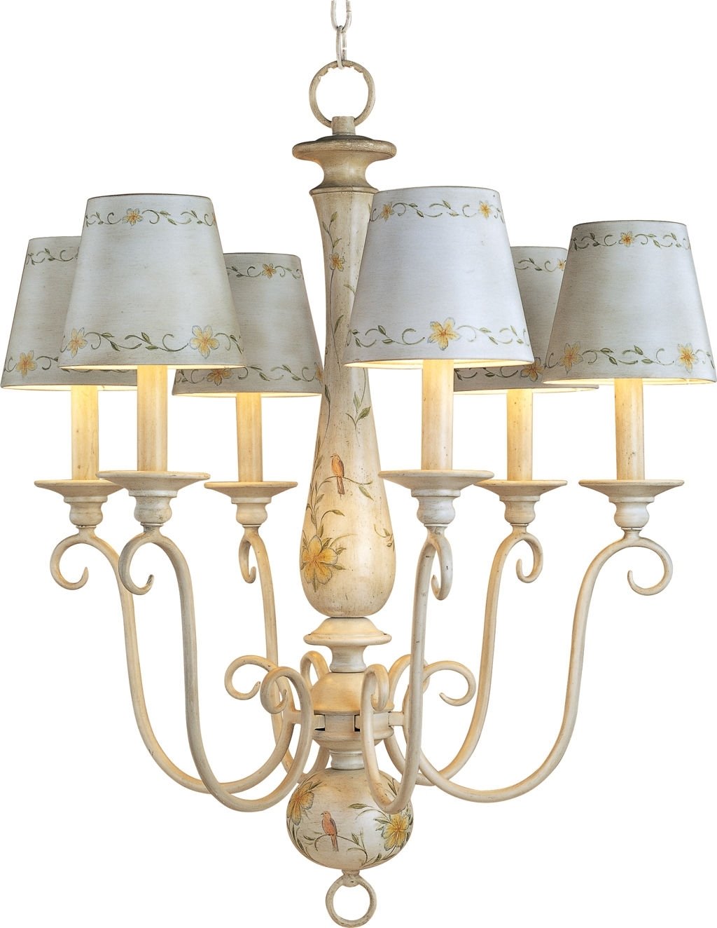 Chandeliers With Lamp Shades Within 2018 Antique French Country Mini Chandelier With Ceramic Lamp Shades And (View 7 of 20)