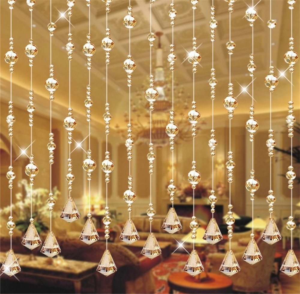 Cheap Crystal Bead Strands Chandelier, Find Crystal Bead Strands In Fashionable Faux Crystal Chandelier Wedding Bead Strands (View 7 of 20)