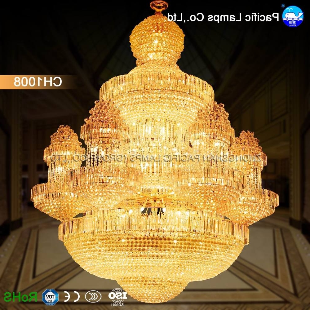 Chinese Chandelier Intended For Latest 2018 Chinese Luxury Lamp Big Chandelier For Hotel, View Big (View 5 of 20)