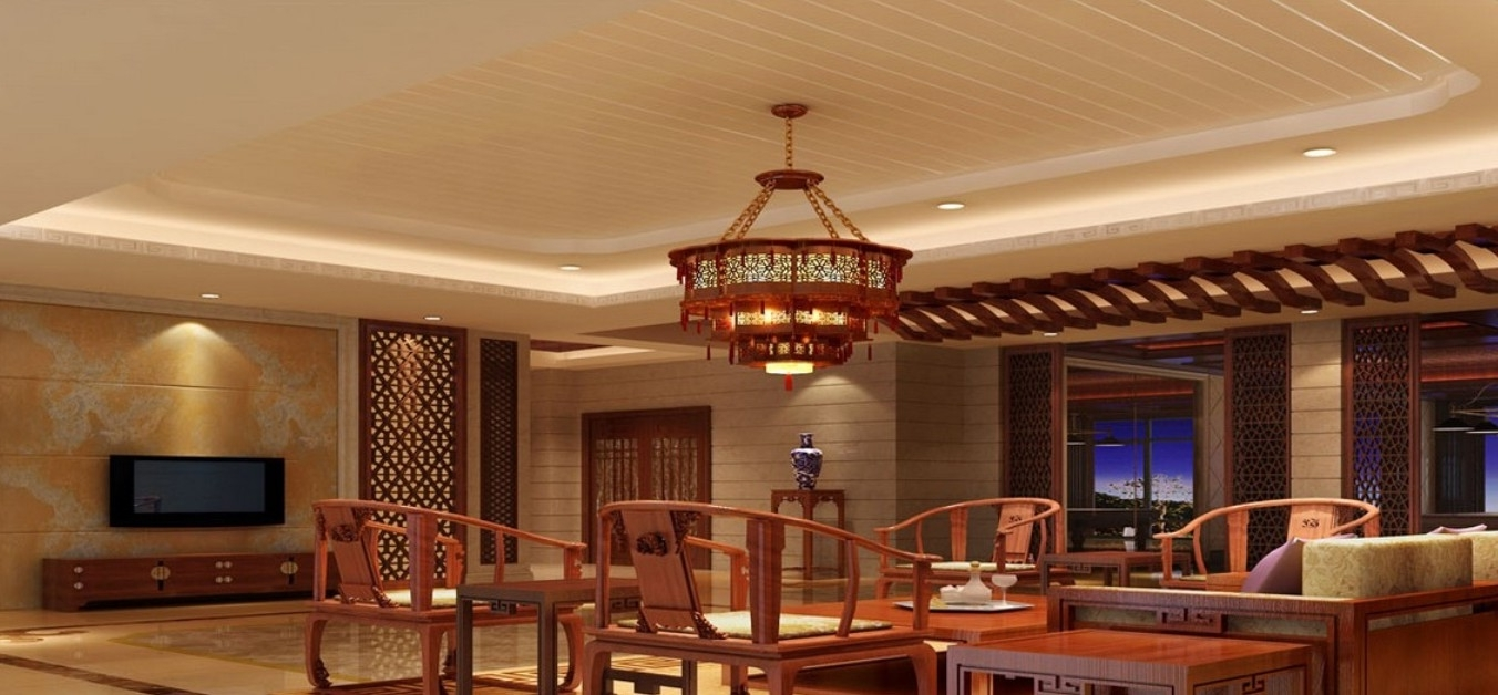 Chinese Style Chandelier Rendering (View 9 of 20)