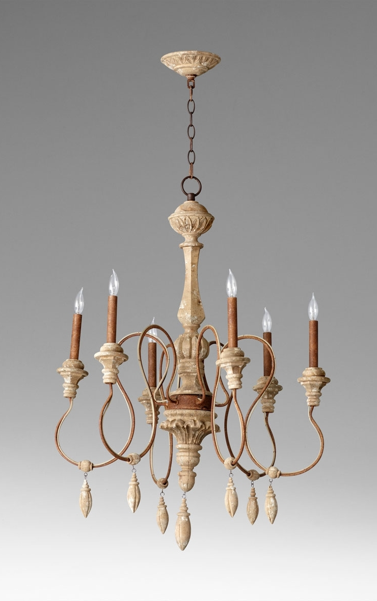 Choat 6 Light Wood Chandeliercyan Design Throughout Well Known French Wooden Chandelier (View 2 of 20)