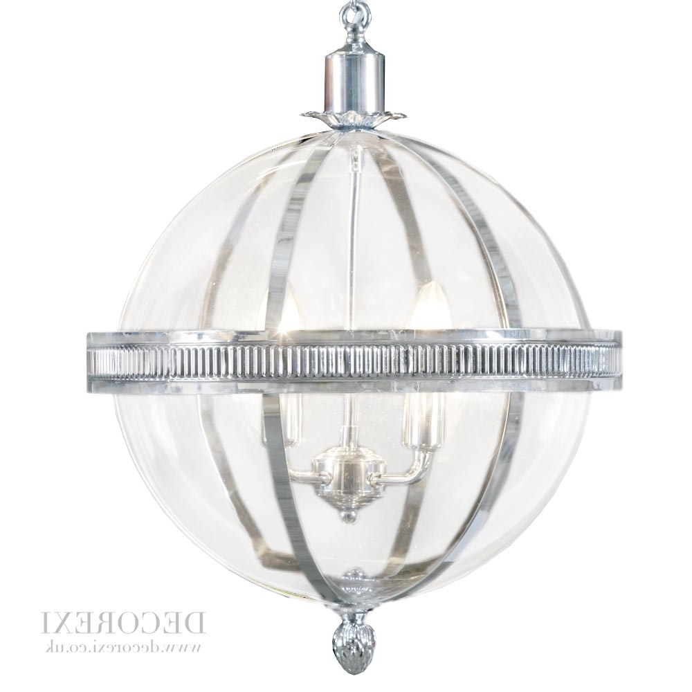 Chrome And Glass Chandeliers Within Fashionable Light : Lantern Chandelier Pendant Light Fixtures Style Lighting (View 2 of 20)