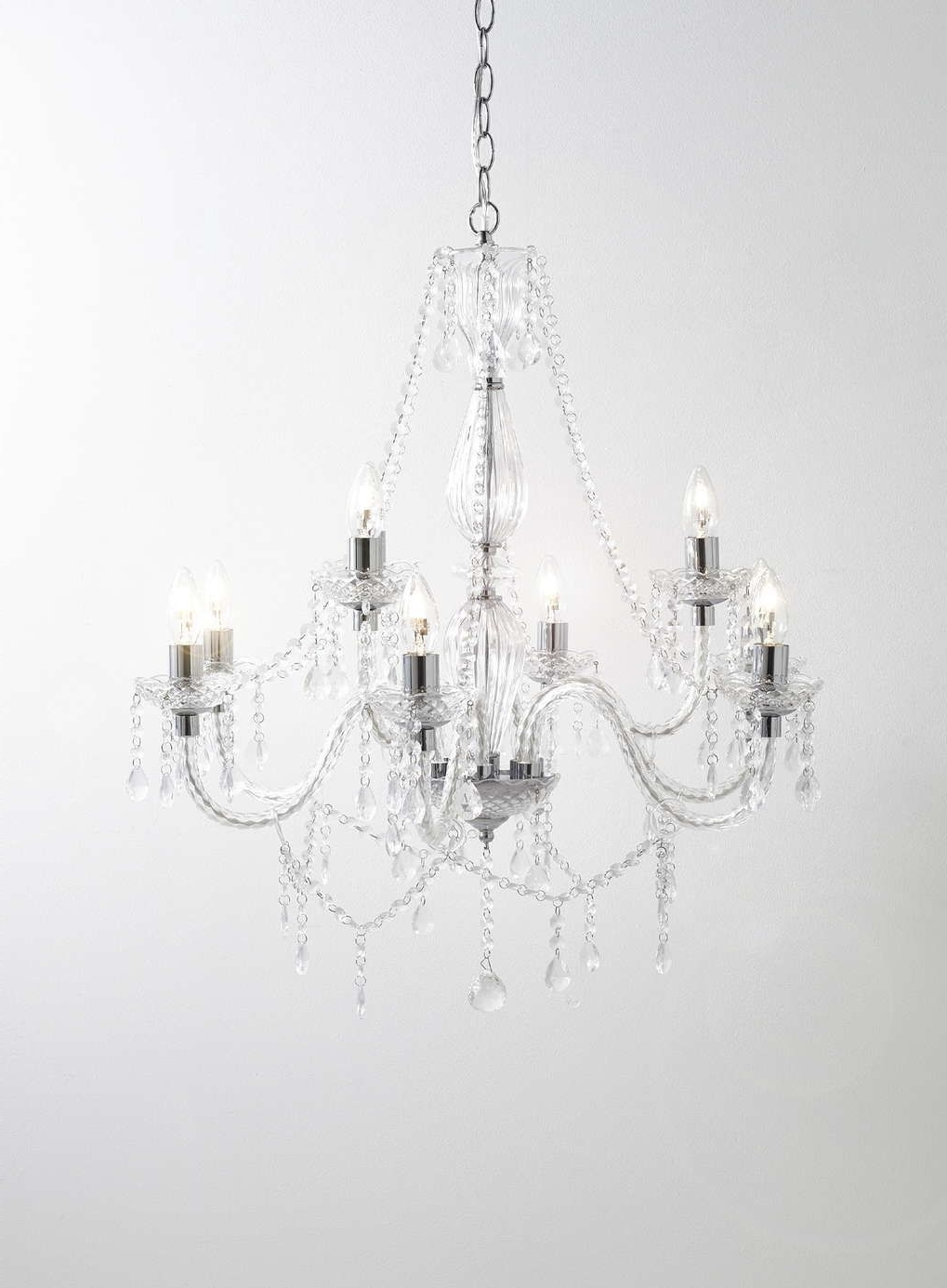 Chrome Bryony 9 Light Chandelier – Bhs Bedroom Lighting, Living Room Intended For Most Up To Date Chrome And Glass Chandeliers (View 9 of 20)