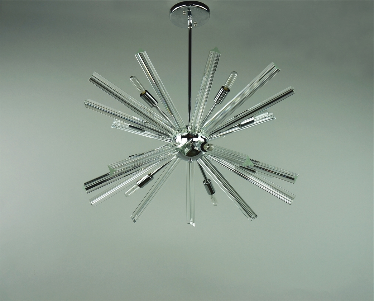 Chrome Sputnik Chandeliers Regarding Preferred Sputnik Chandelier Chrome 27'' In Diameter With 20 Crystal Prisms (View 3 of 20)