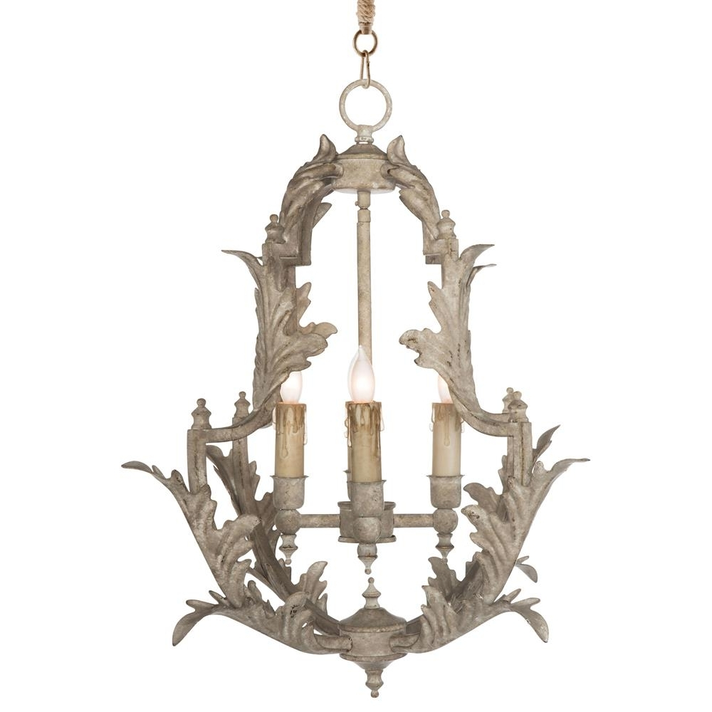 Clarisse French Country Rustic White Chandelier – 23 Inch (View 4 of 20)