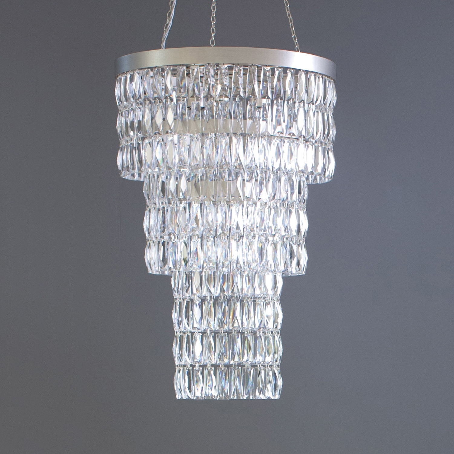 Clear Crystal Long Chandelier – Tigermoth Lighting Inside Most Up To Date Long Chandelier Lighting (View 5 of 20)