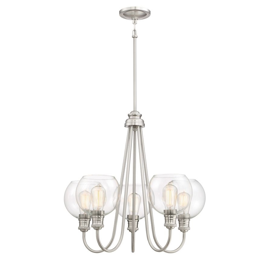 Clear Glass Chandeliers Regarding Most Up To Date $160 – Quoizel Soho  (View 6 of 20)