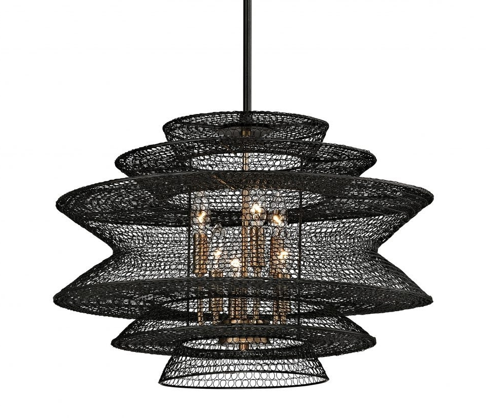 Clip On Chandeliers Inside Most Current Chandeliers : Unique Clip On Chandelier Shades Rustic Wire Basket (View 6 of 20)