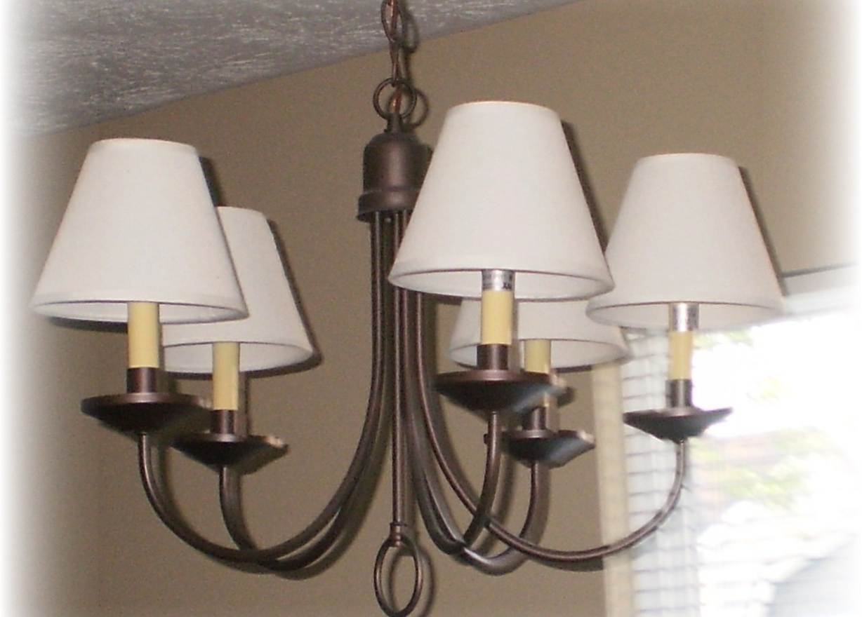 Clip On Drum Chandelier Shades For Well Known Chandelier : 5 Linen Drum Chandelier Shade Amazing Clip On Drum (View 6 of 20)