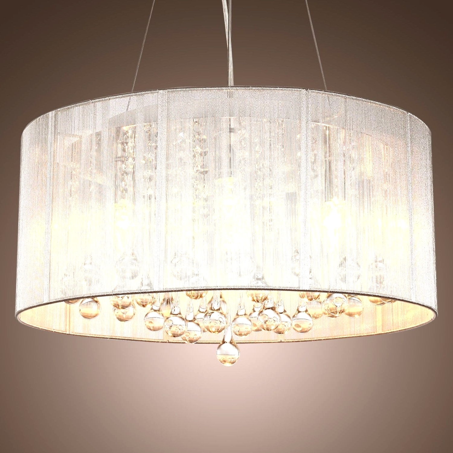 Clip On Drum Chandelier Shades Intended For Trendy Chandeliers Design : Magnificent Best Clip On Drum Chandelier Shades (View 2 of 20)