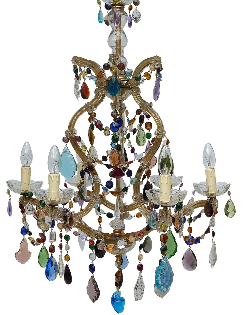 Coloured Chandeliers In 2018 The Vintage Chandelier Companymulti Coloured Archives – Page 3 Of (View 4 of 20)