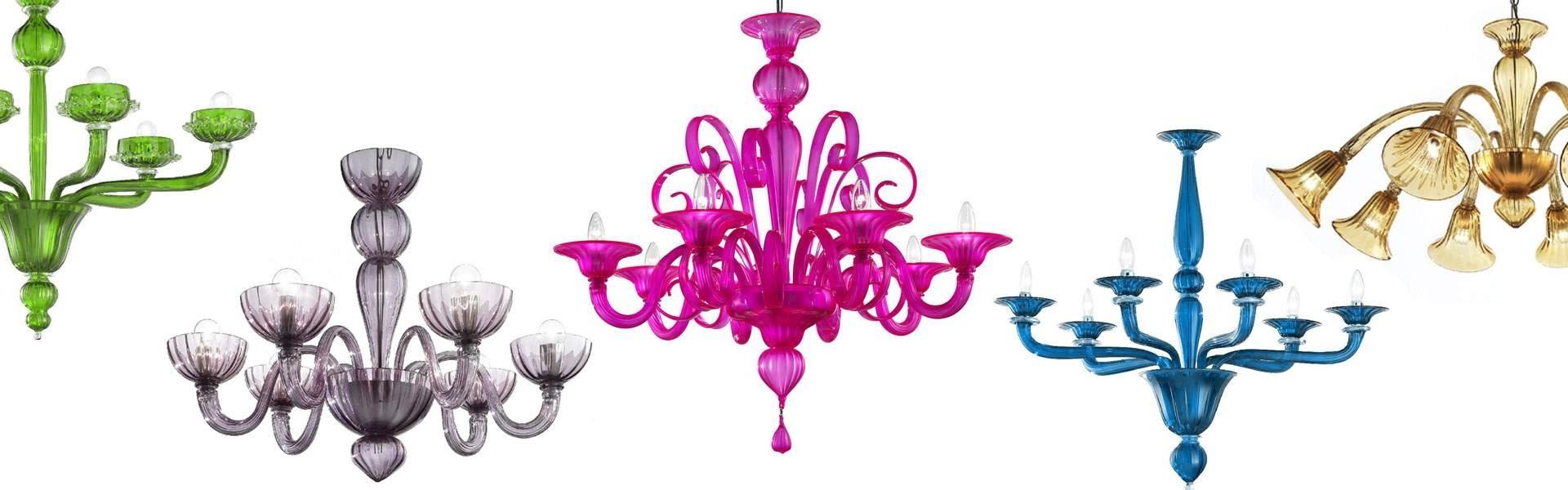 Coloured Glass Chandelier Regarding Trendy ⇒ Murano Chandeliers (View 9 of 20)