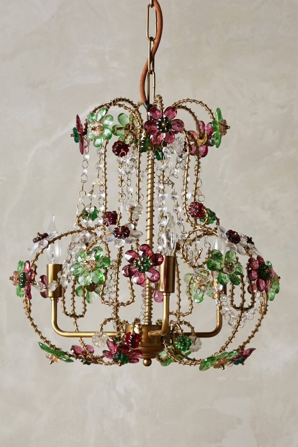Coloured Glass Chandelier Within Most Current Chandeliers Design : Wonderful Colorful Chandeliers Laurel Loves Via (View 8 of 20)