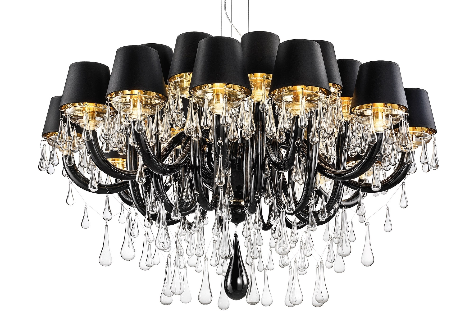 Contemporary Black Chandelier Pertaining To Trendy Modern Murano Chandelier Dmgouttes24K – Murano Lighting (View 9 of 20)