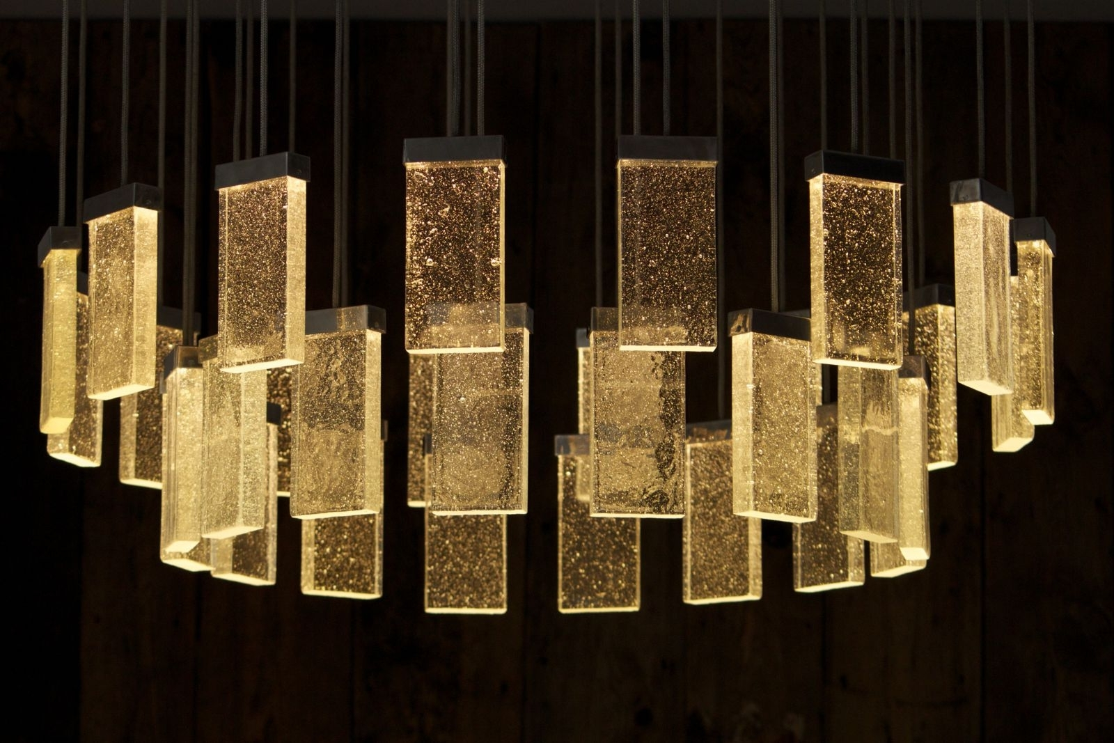Contemporary Chandelier / Glass / Aluminum / Led – 32 Grand Cru Throughout Well Known Modern Glass Chandeliers (View 7 of 20)