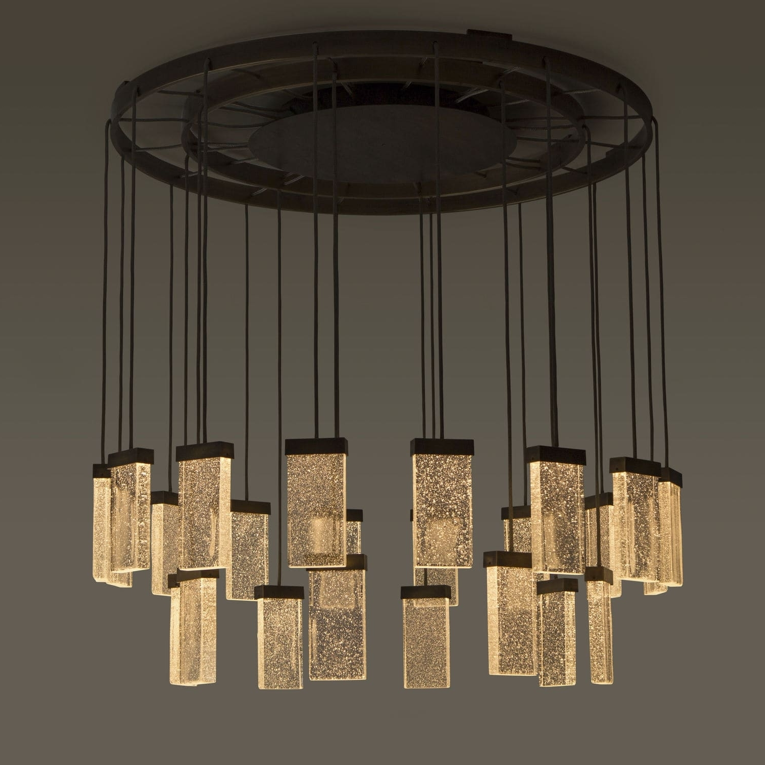 Contemporary Chandelier Throughout Well Known Contemporary Chandelier / Glass / Aluminum / Led – 24 Grand Cru (View 9 of 20)