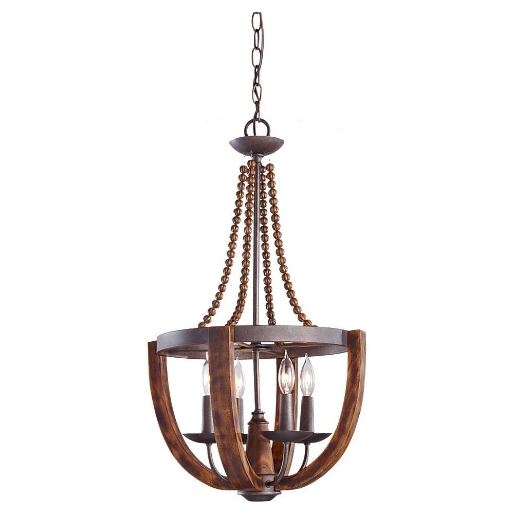 Copper Chandeliers With Well Known Crystal – Copper – Chandeliers – Lighting – The Home Depot (View 18 of 20)