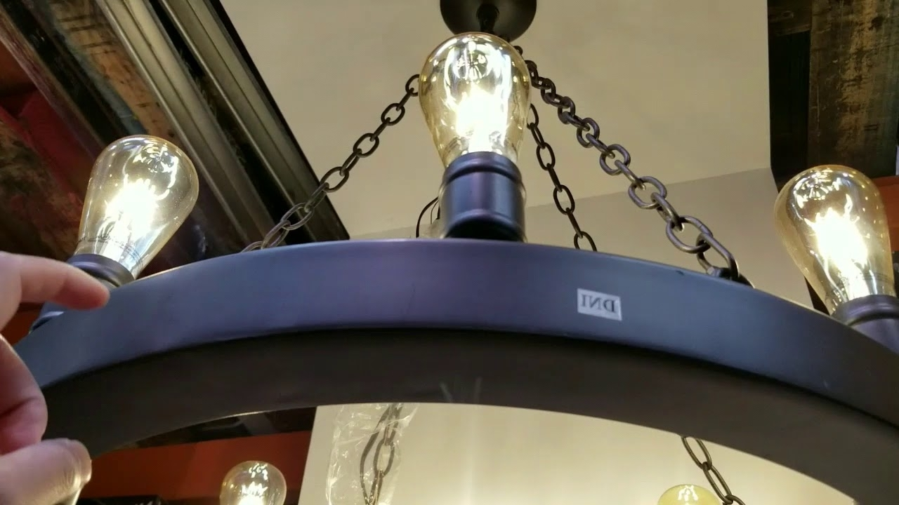 Costco 8 Edison Light Led Dark Bronze Metal Chandelier! $99!!! – Youtube Regarding Fashionable Costco Lighting Chandeliers (View 3 of 20)
