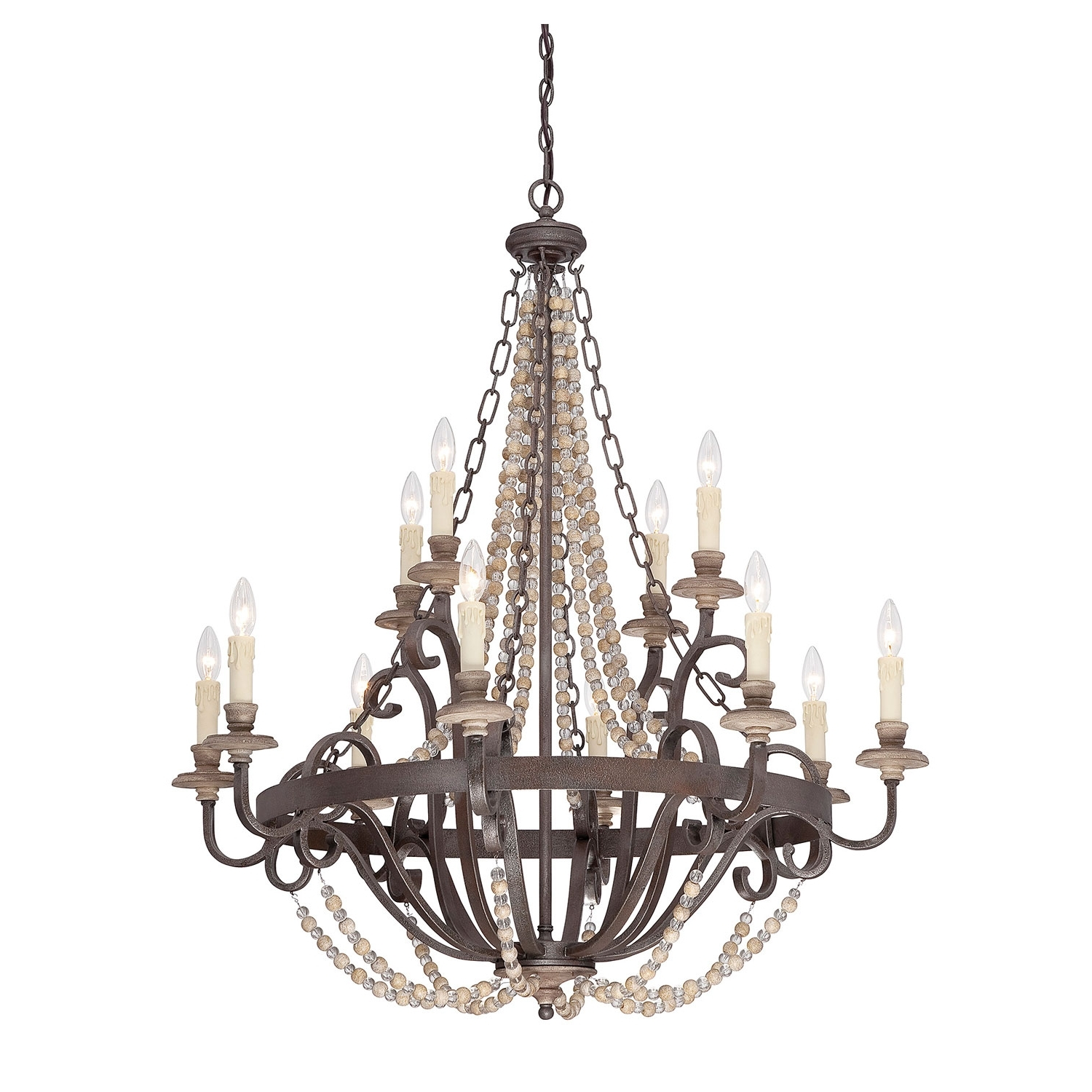 Country Chic Chandelier Within Preferred Light : Chandeliers Made In Usa Crystal Modern Iron Shabby Chic (View 15 of 20)