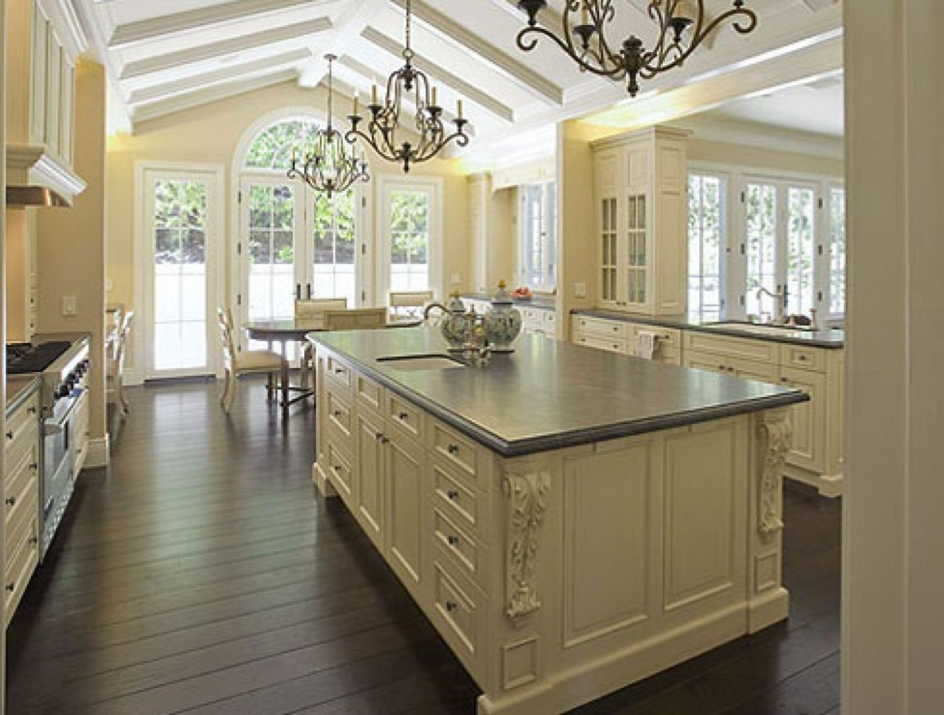 Country French Kitchens With Popular French Country Chandeliers For Kitchen (View 20 of 20)